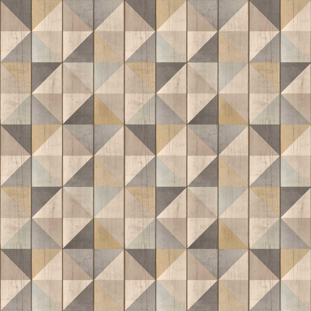 Geo Wood Wallpaper - Neutral - by Albany