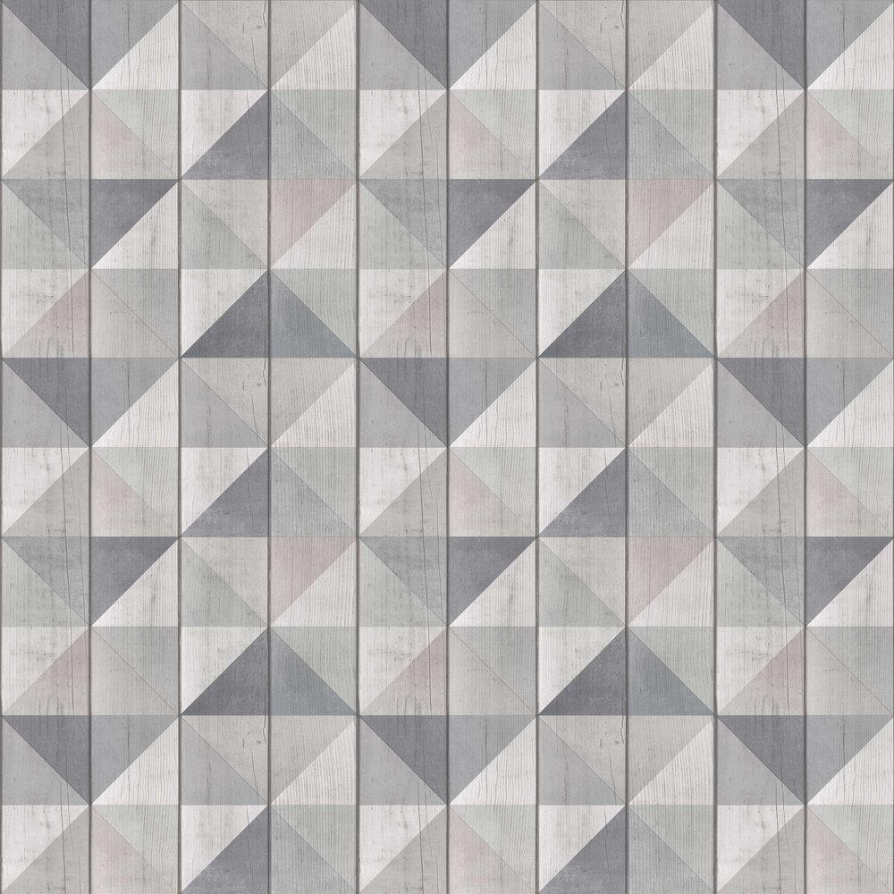 Geo Wood Wallpaper - Grey - by Albany