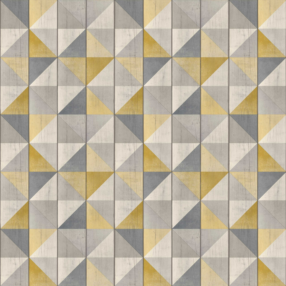 Albany Geo Wood Yellow Wallpaper - Product code: EP3104