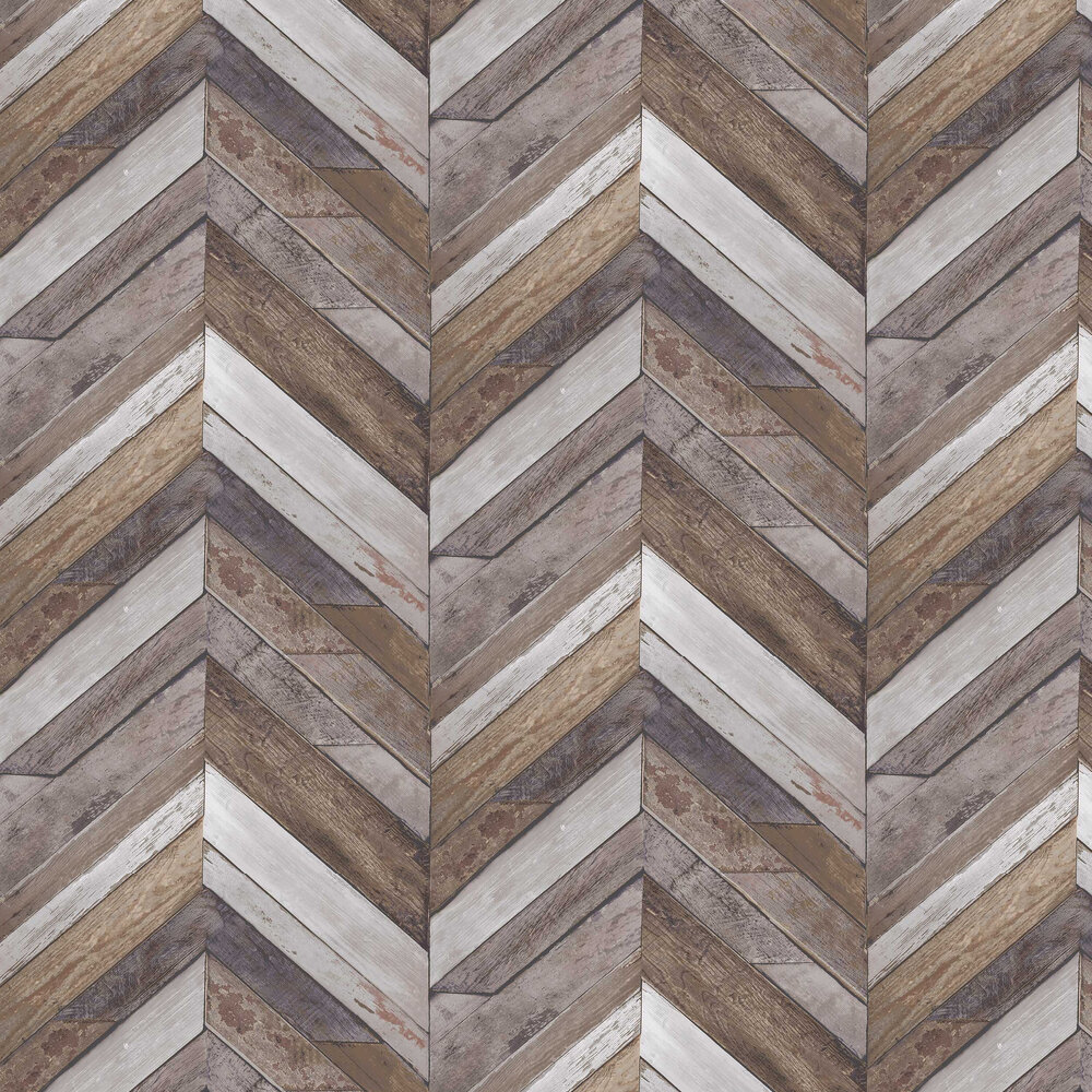 Nautical Zigzag Wallpaper - Brown - by Albany