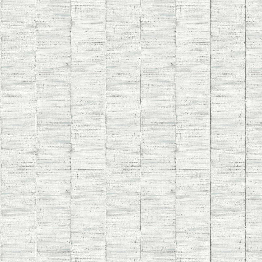 Sanded Wood Wallpaper - White - by Albany