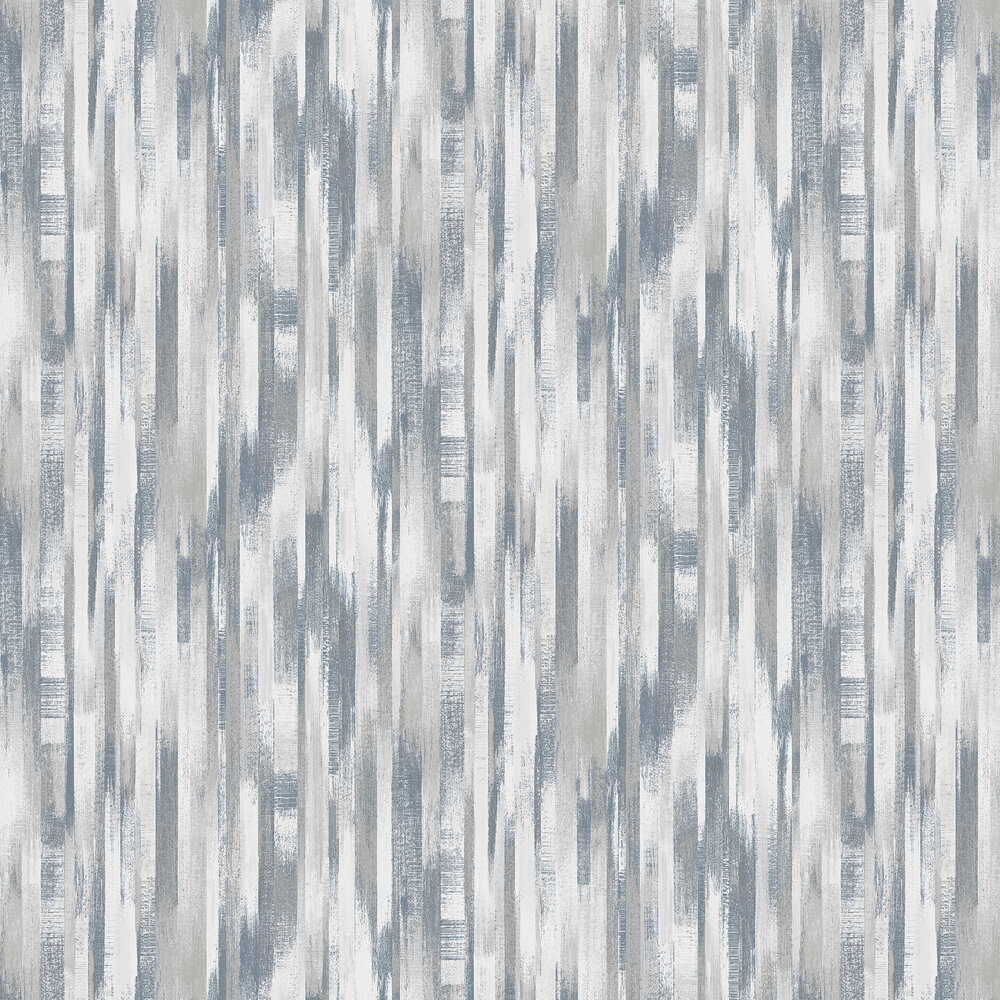 Wood Stripe Wallpaper - Blue - by Albany