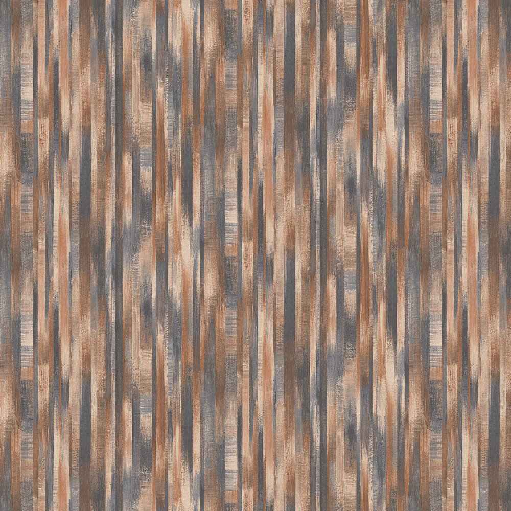 Wood Stripe Wallpaper - Copper - by Albany