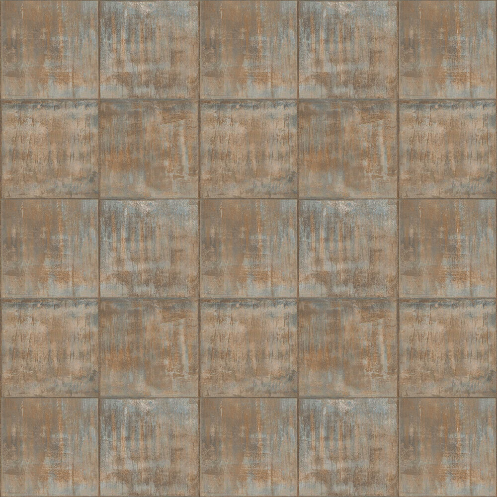 Sheet Metal Wallpaper - Copper - by Albany