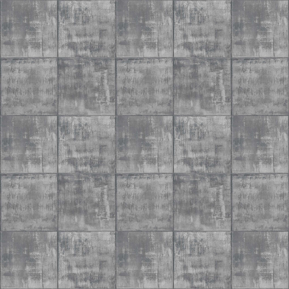 Sheet Metal Wallpaper - Grey - by Albany