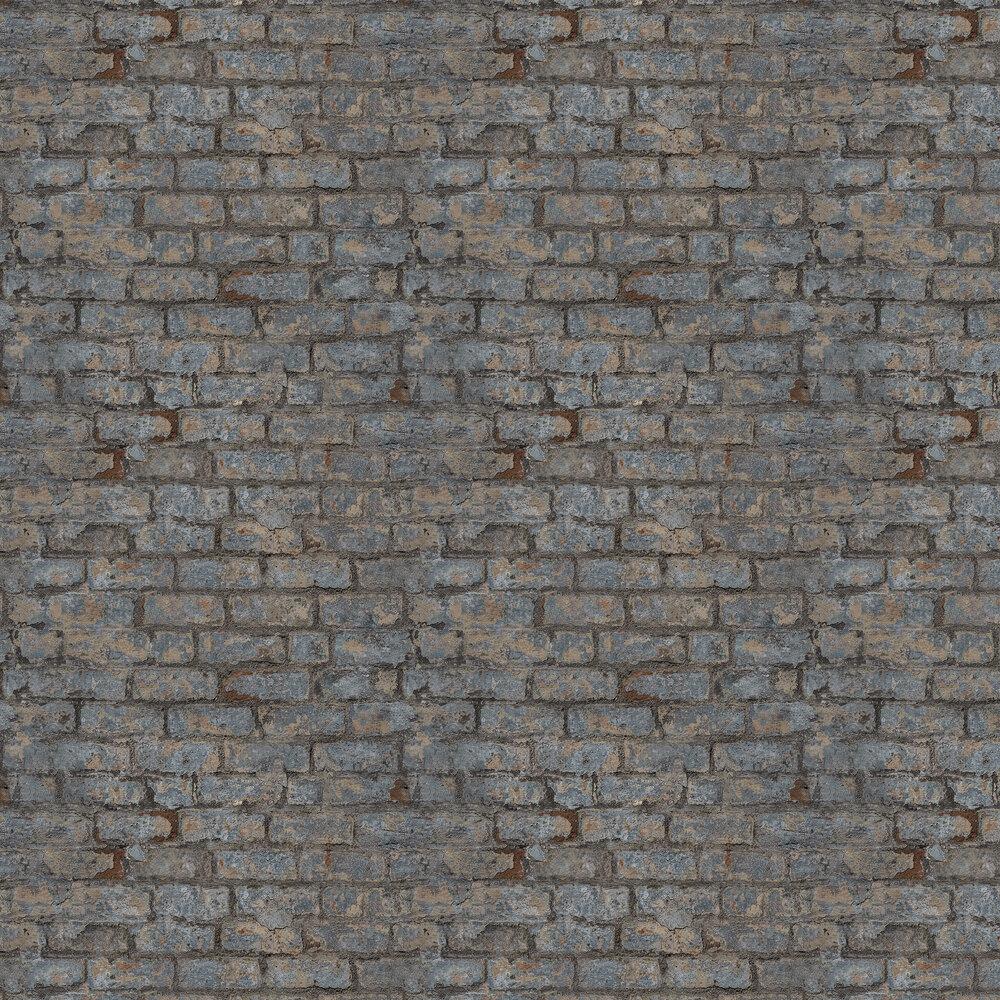Industrial Brick Wallpaper - Dark Grey - by Albany