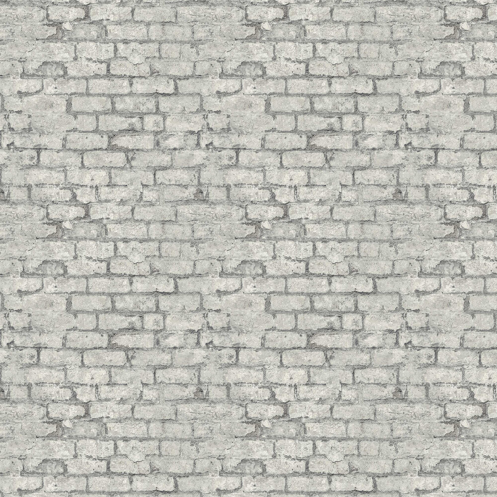 Industrial Brick Wallpaper - Grey - by Albany