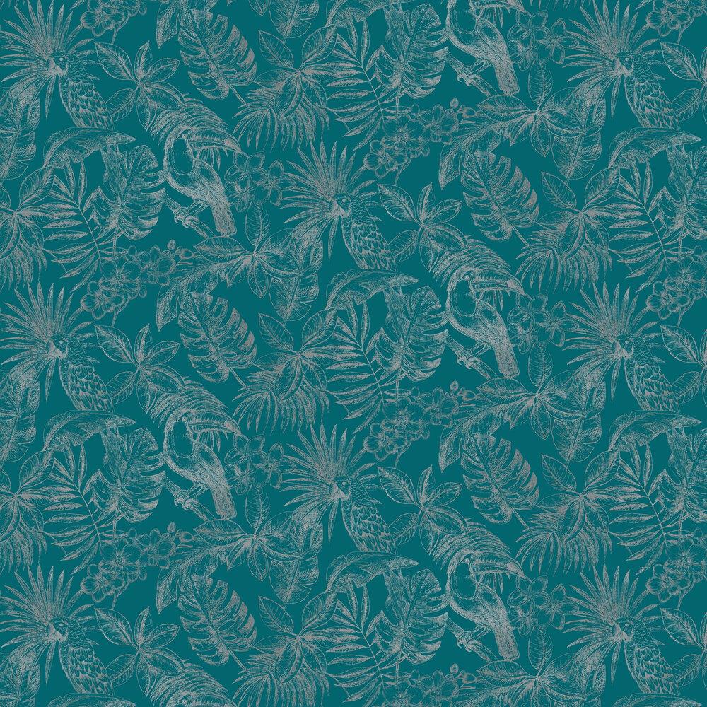Sankuru Wallpaper - Teal - by Albany