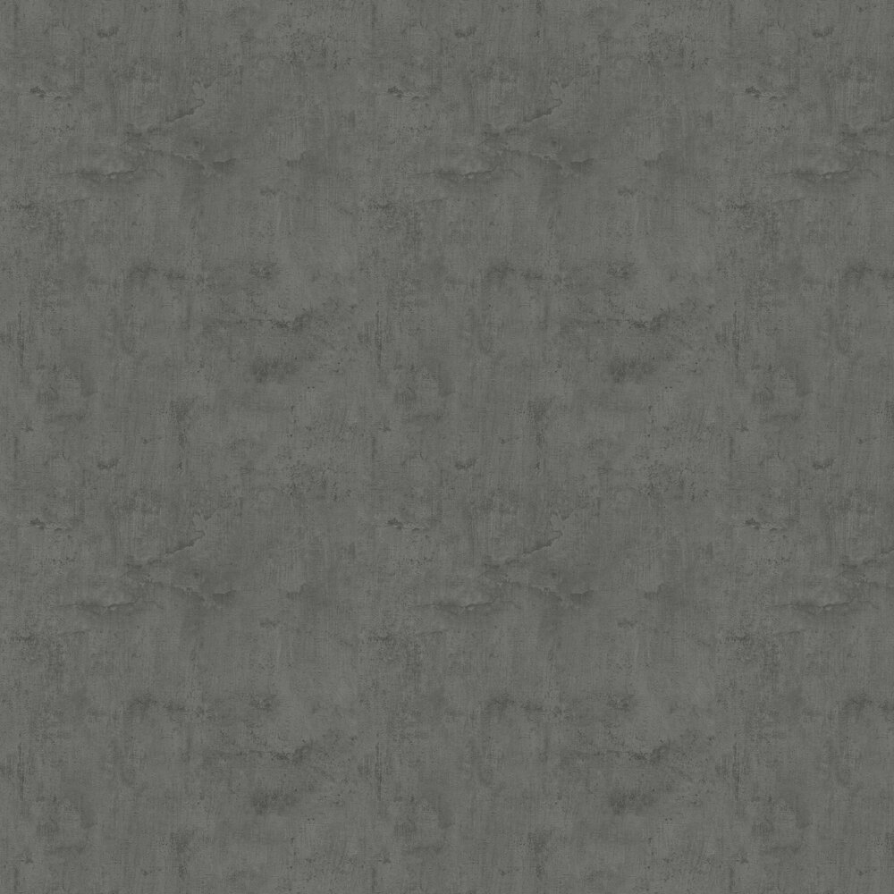 Plaster Look Wallpaper - Charcoal Grey - by Albany