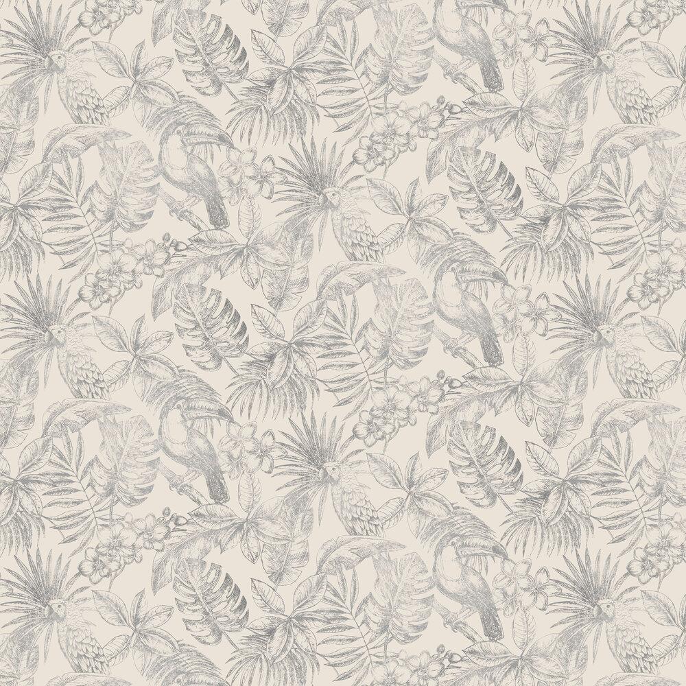 Sankuru Wallpaper - White - by Albany