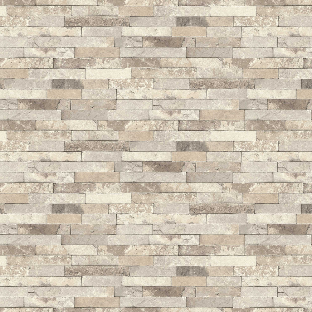 Albany Granite Brick Grey Wallpaper - Product code: 475159