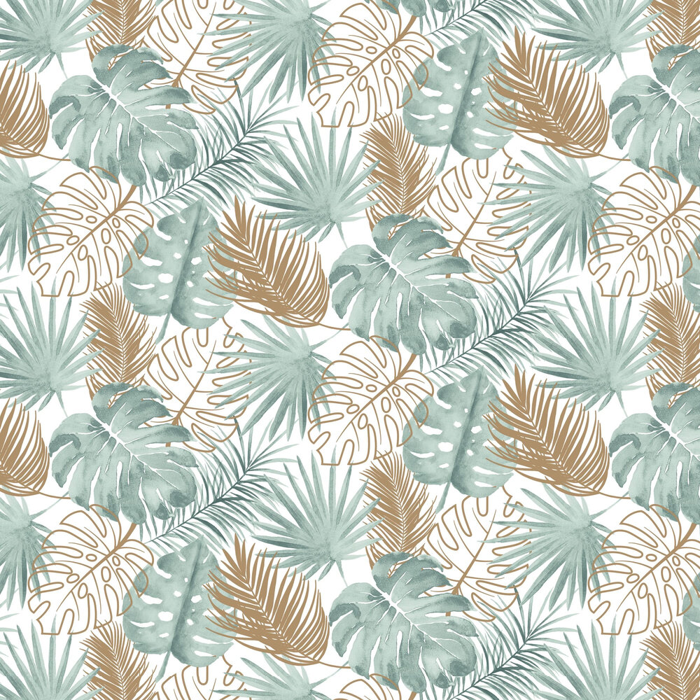 Tropical Leaves Wallpaper - Green - by Albany