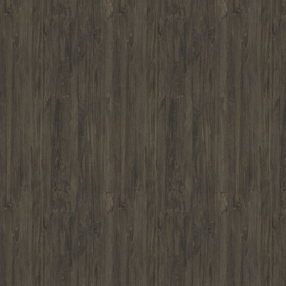Wooden Effect Wallpaper - Charcoal Brown - by Albany