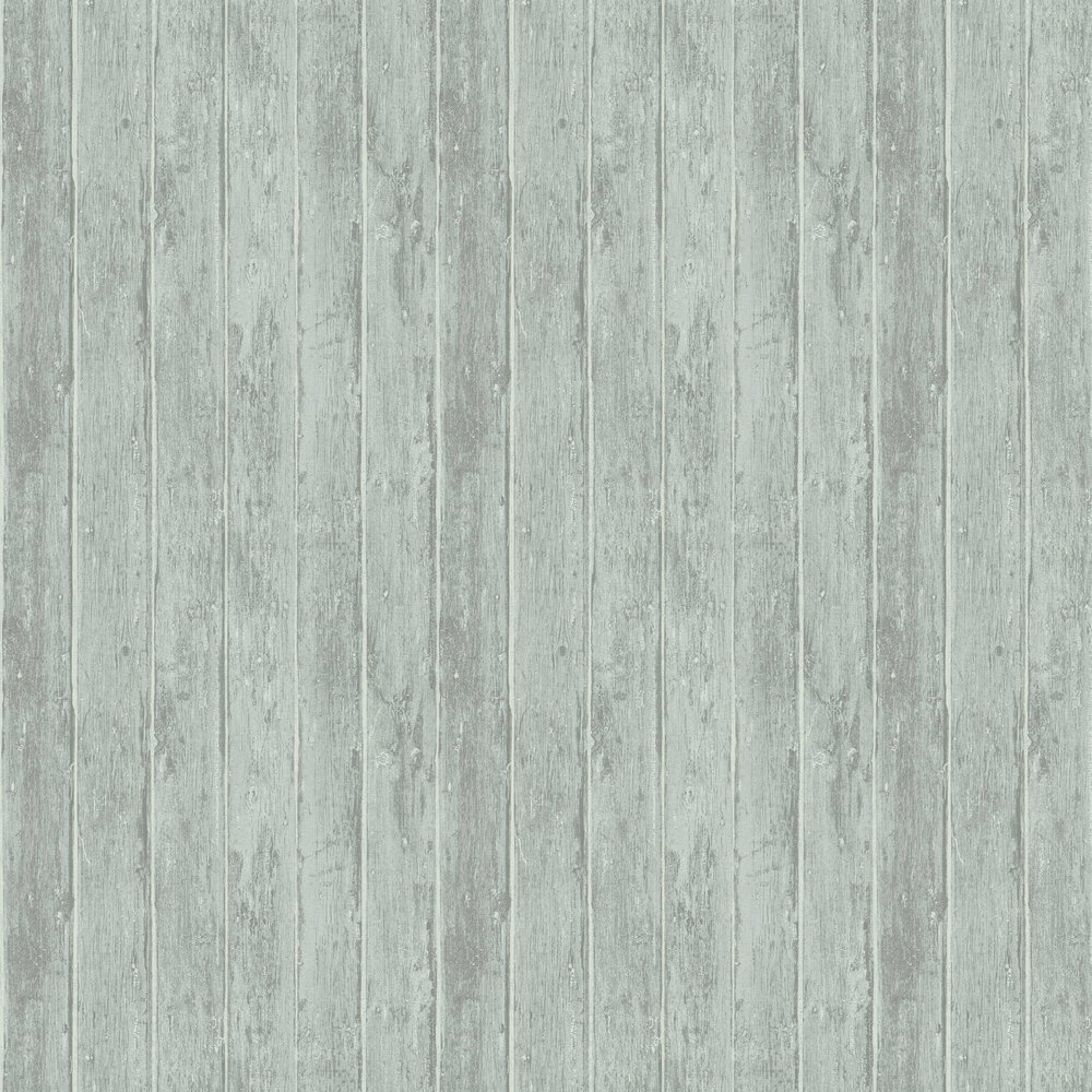 Distressed Decking Wallpaper - Blue - by Albany