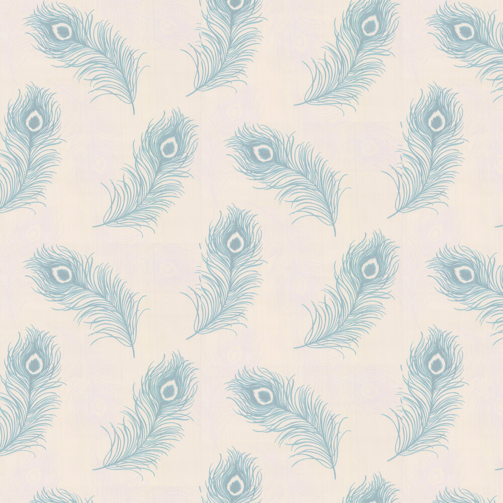 Viola Wallpaper - Teal Blue - by Albany