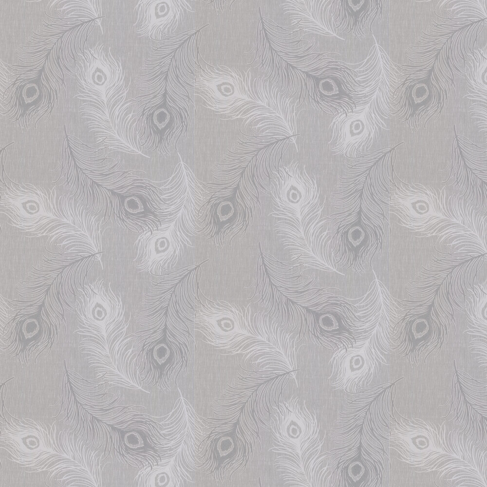 Viola Wallpaper - Silver Grey - by Albany