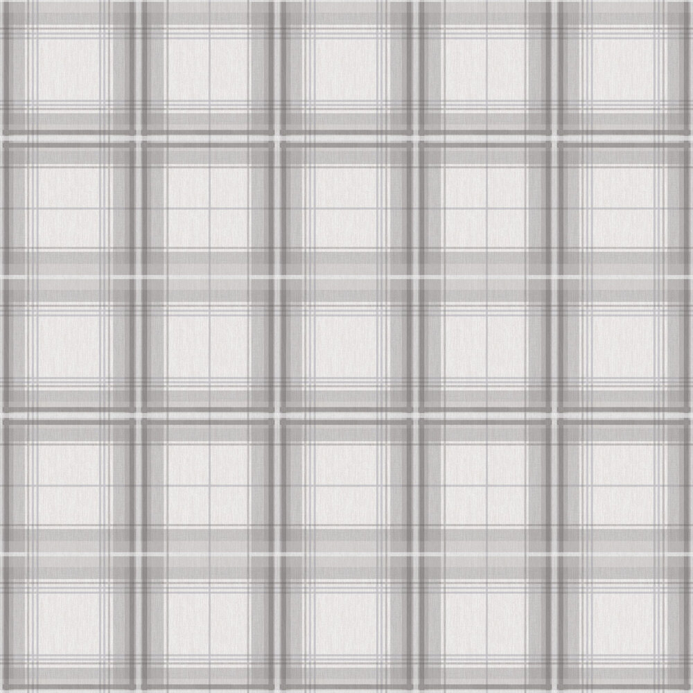 Woven Check Wallpaper - Grey / White - by Arthouse