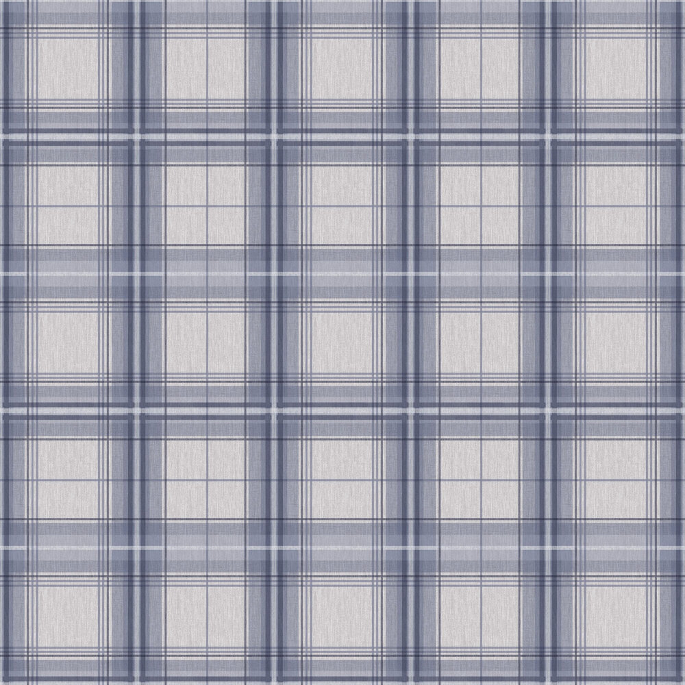 Arthouse Woven Check Blue / Grey Wallpaper - Product code: 942302