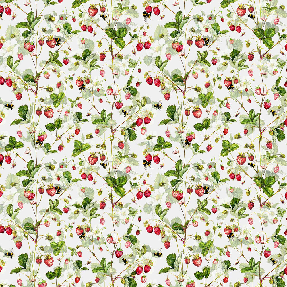 Bumble Wallpaper - Strawberry - by Isabelle Boxall