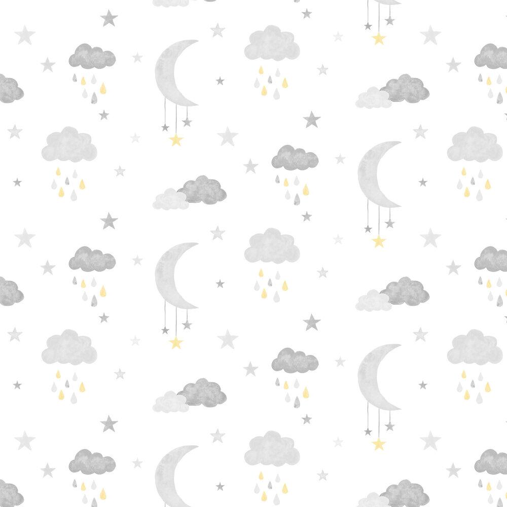 Grandeco Sweet Dreams Grey / Yellow Wallpaper - Product code: LO2001