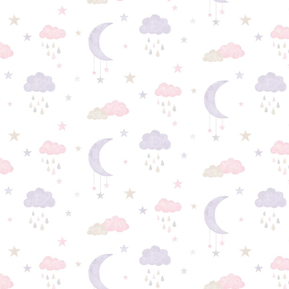 Grandeco Sweet Dreams Pink / Purple Wallpaper - Product code: LO2002