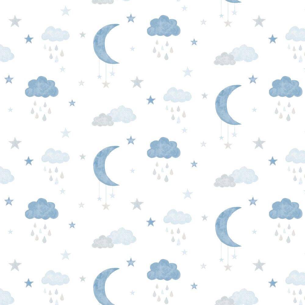 Grandeco Sweet Dreams Blue Wallpaper - Product code: LO2003