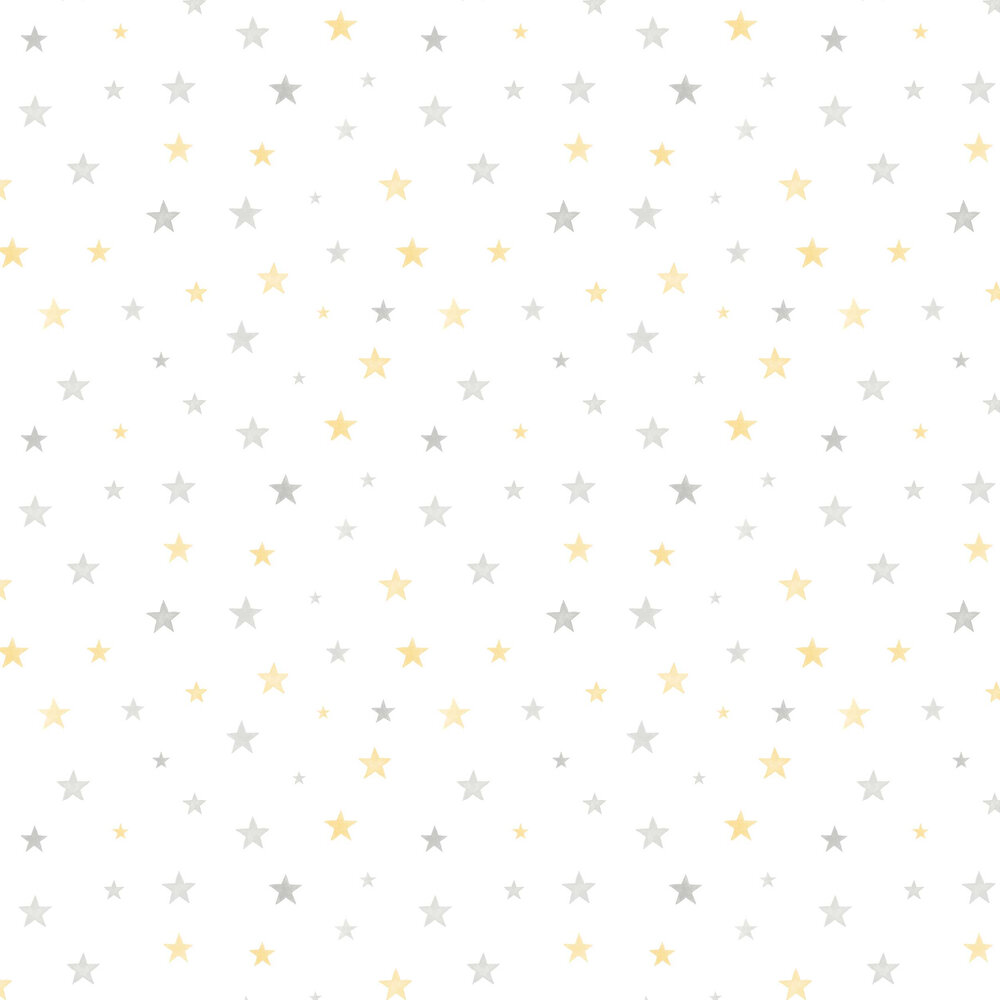 Starry Wallpaper - Grey / Yellow - by Grandeco