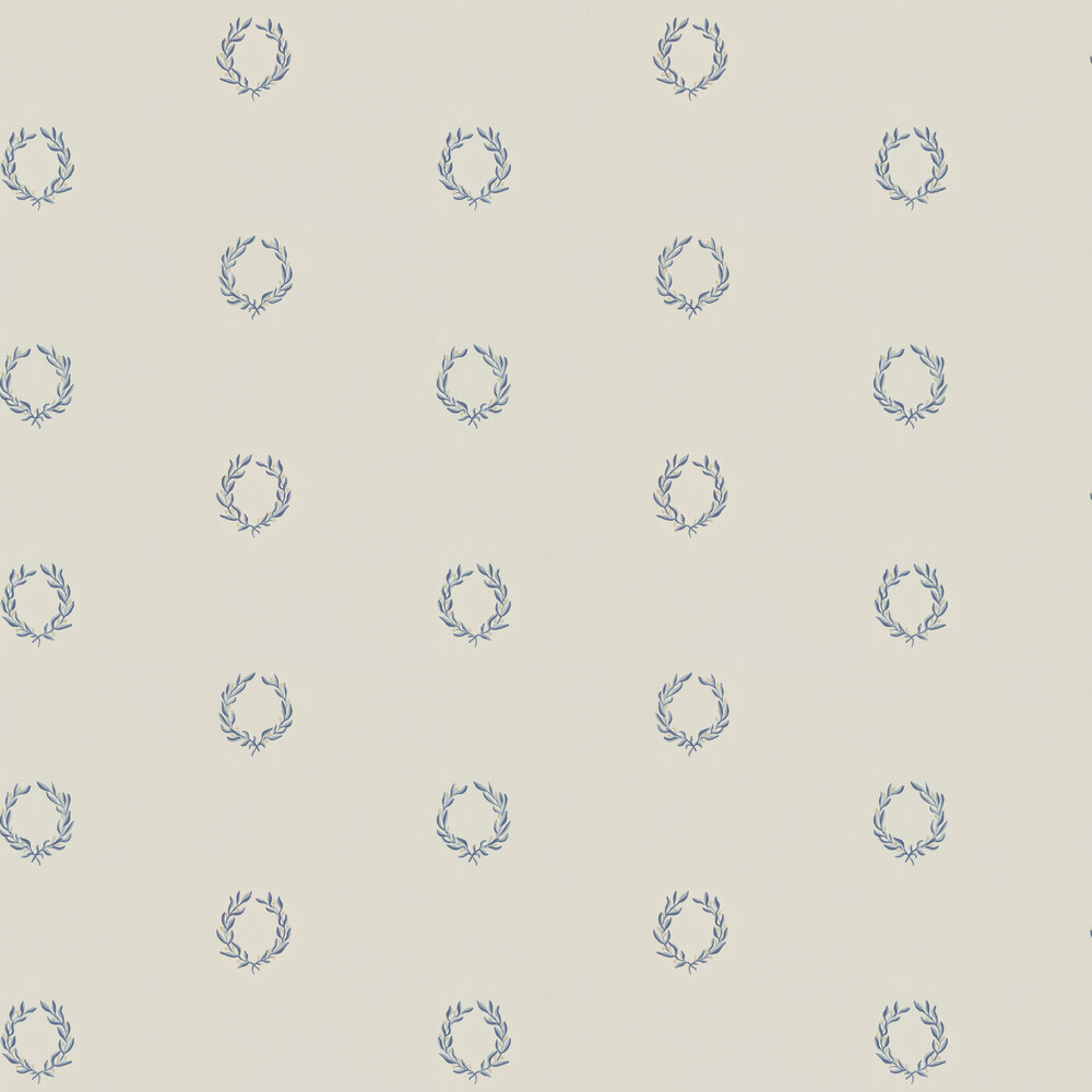 Karl Wallpaper - Grey / Blue - by Sandberg