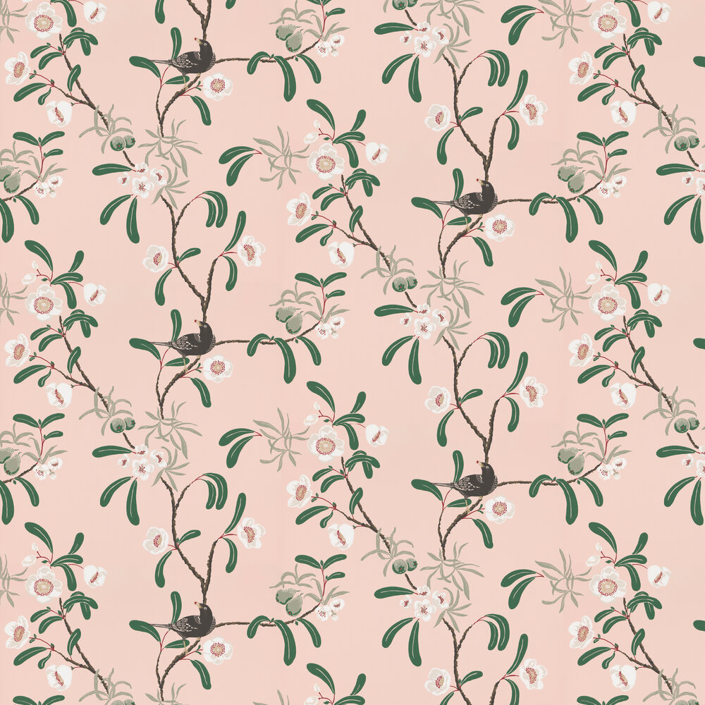 Sandberg Antonia Pink / Green Wallpaper - Product code: 104-24