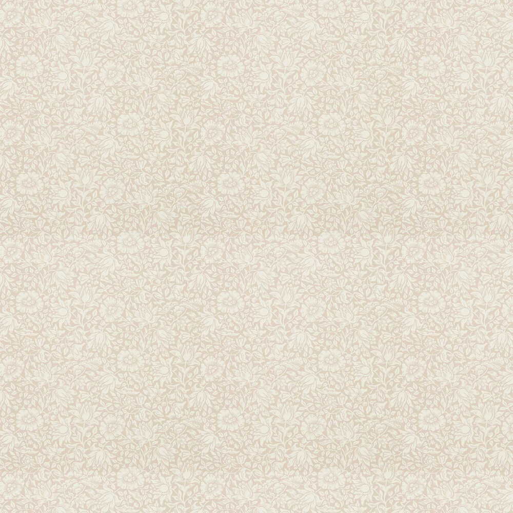 Mallow Wallpaper - Dusky Rose - by Morris