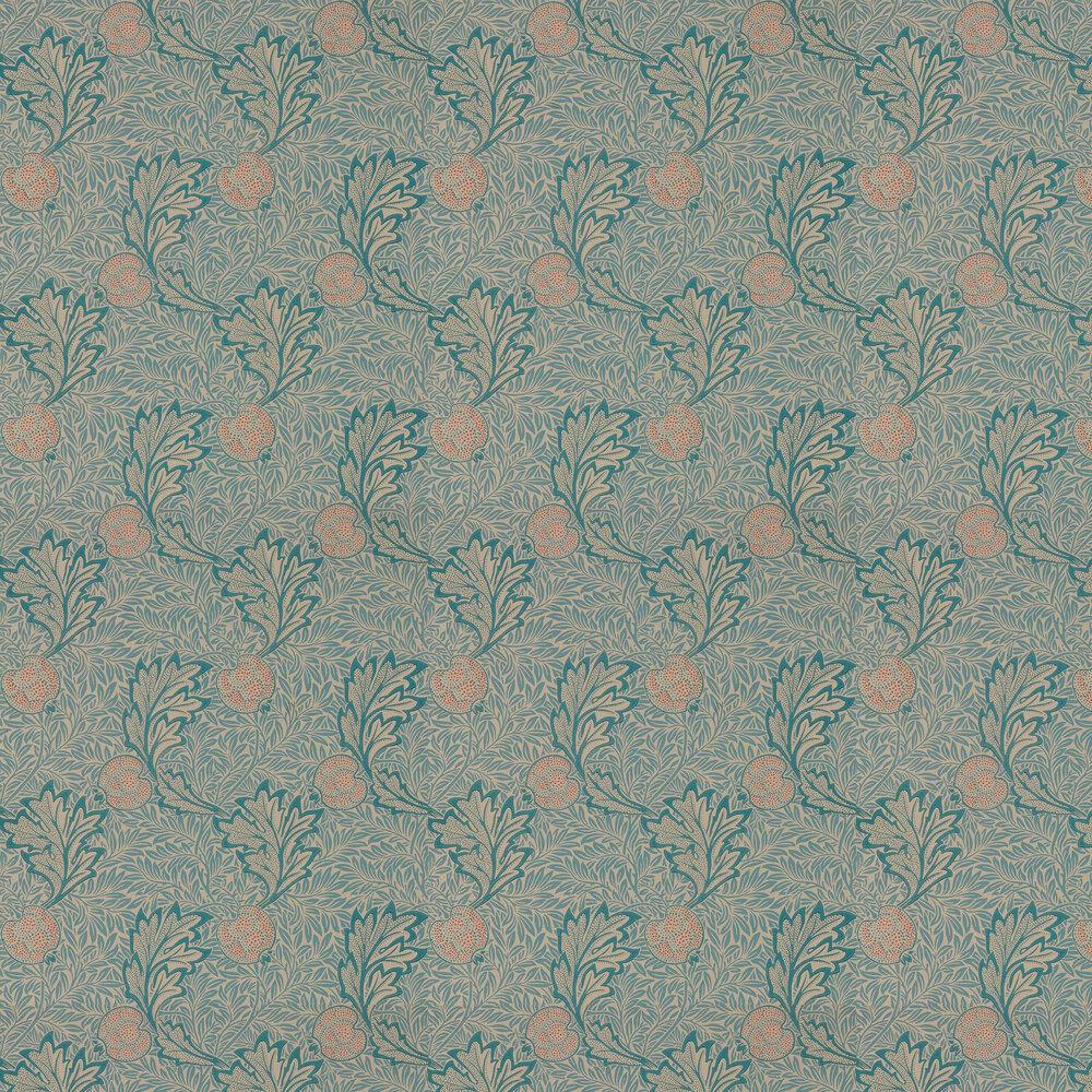 Apple Wallpaper - Indigo Antique - by Morris