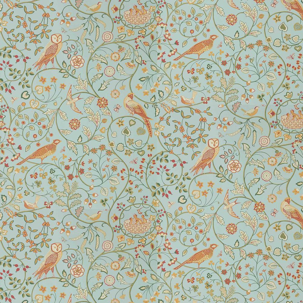 Newill Wallpaper - Peppermint Russet - by Morris