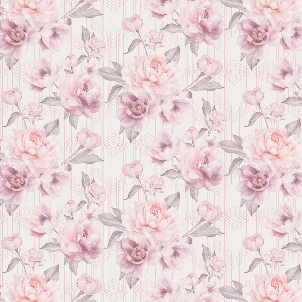 Stella Wallpaper - Blush - by Albany
