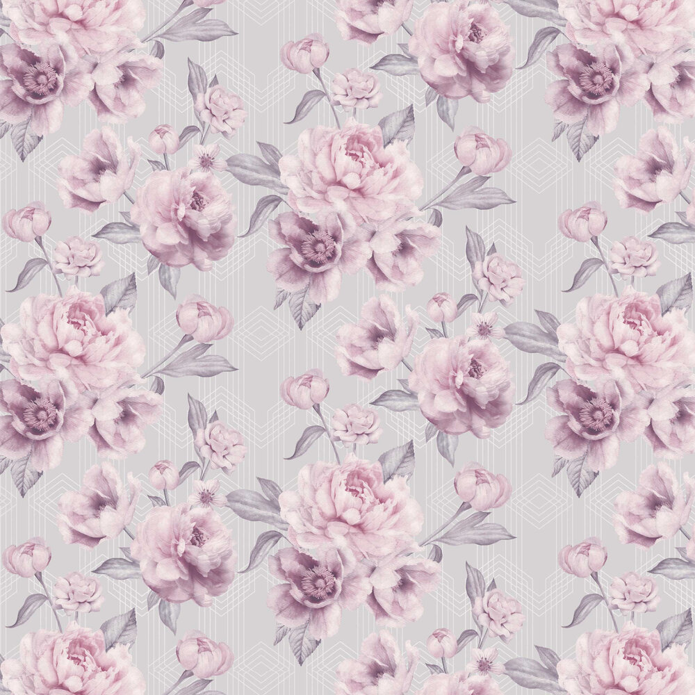 Stella Wallpaper - Heather - by Albany