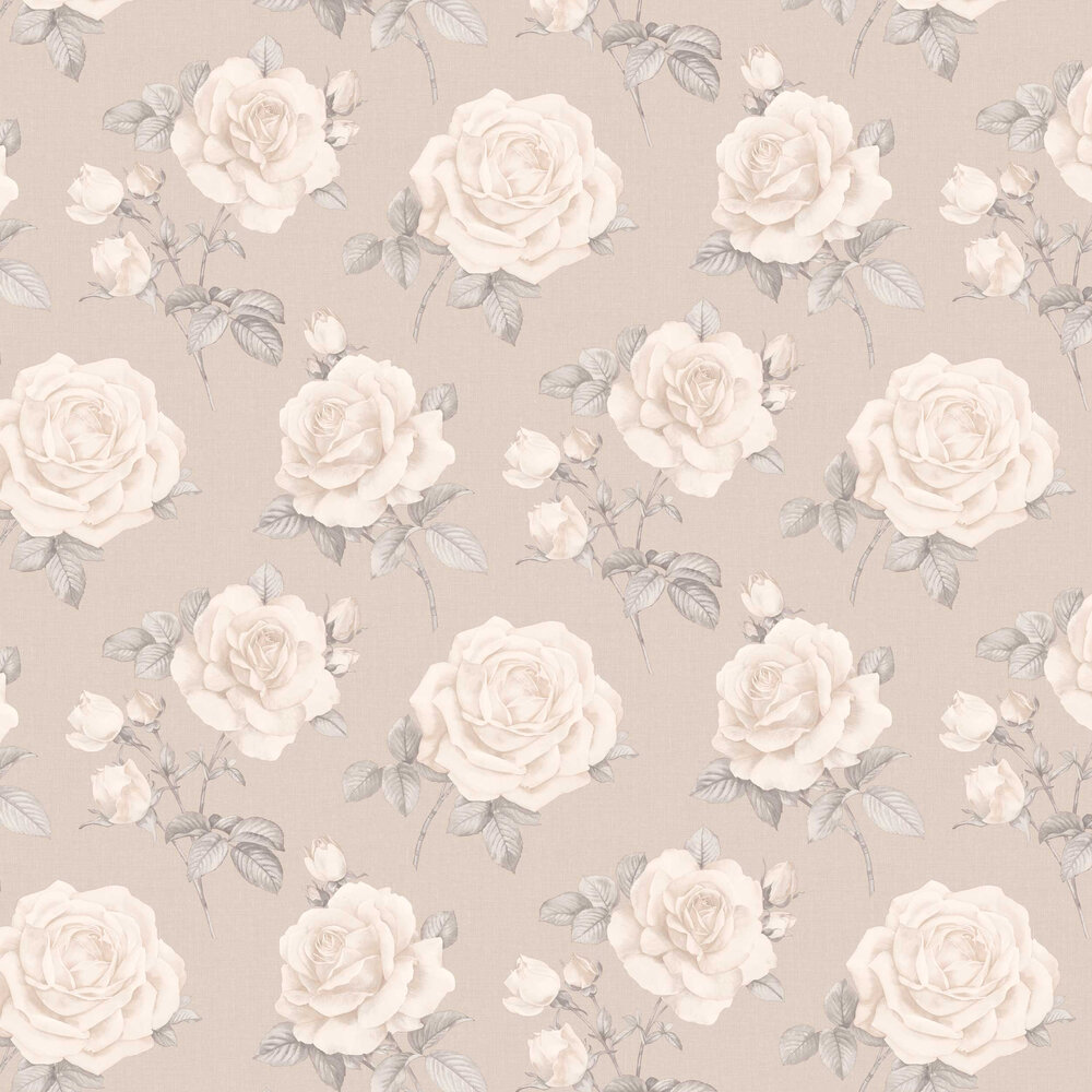 Rosa Wallpaper - Natural - by Albany
