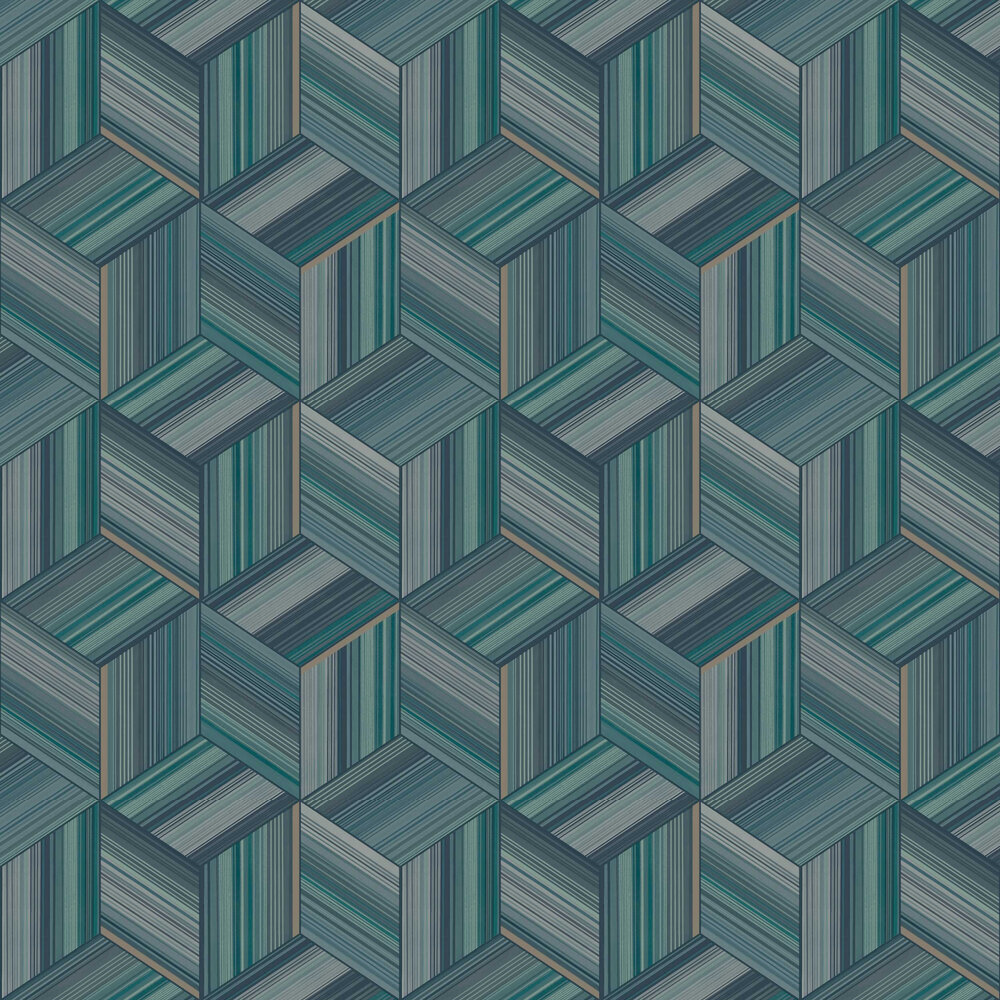 Hudson Wallpaper - Teal - by Albany