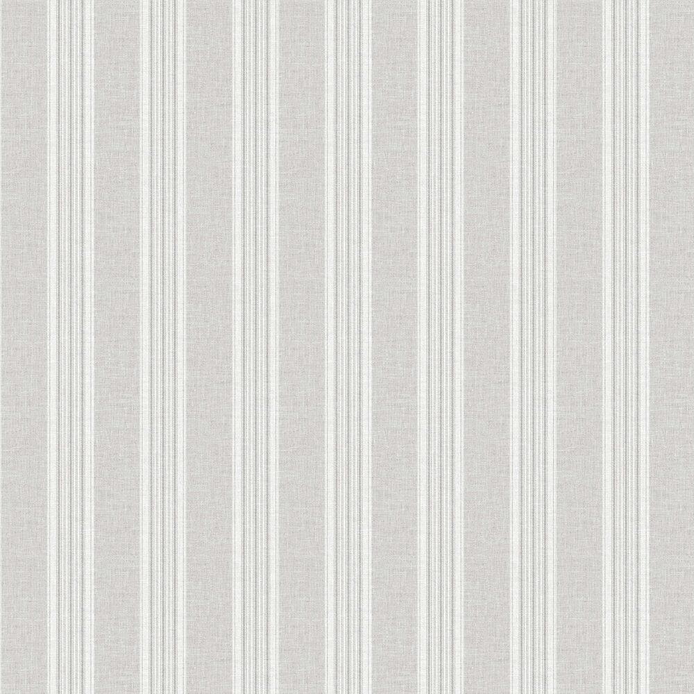 Ticking Stripe Wallpaper - Grey - by Arthouse