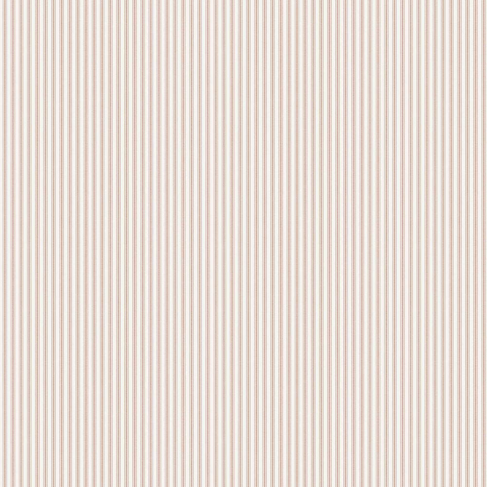 Aspo Stripe Wallpaper - Red - by Boråstapeter