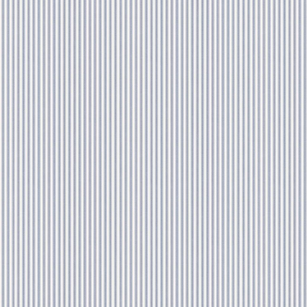 Aspo Stripe Wallpaper - Dark Blue - by Boråstapeter