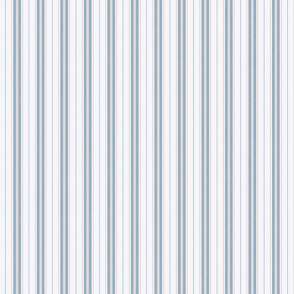 Boråstapeter Hamnskar Stripe Red / Blue Wallpaper - Product code: 8874