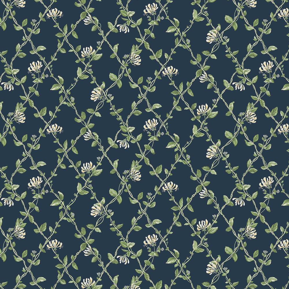 Boråstapeter Honeysuckle Blue Wallpaper - Product code: 8851