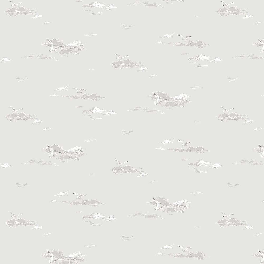Seagulls Wallpaper - Grey - by Boråstapeter