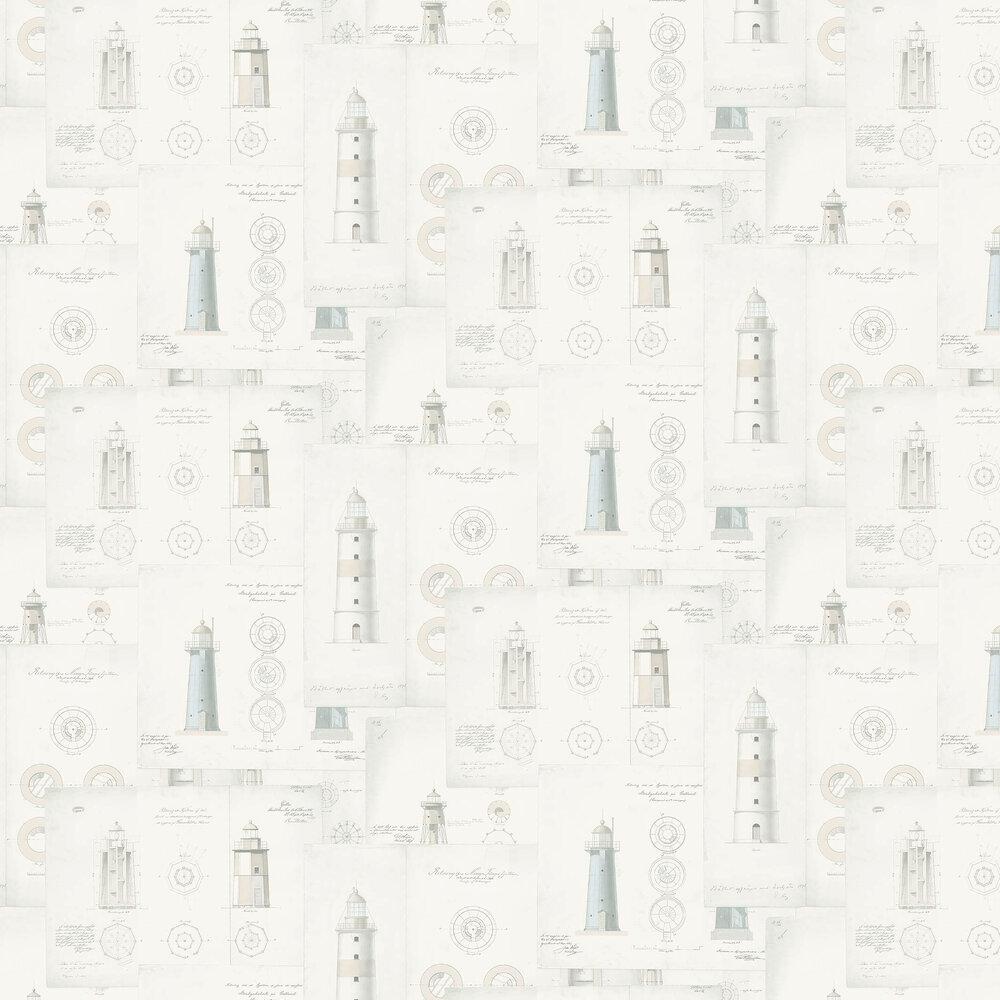 Lighthouse Wallpaper - Beige - by Boråstapeter