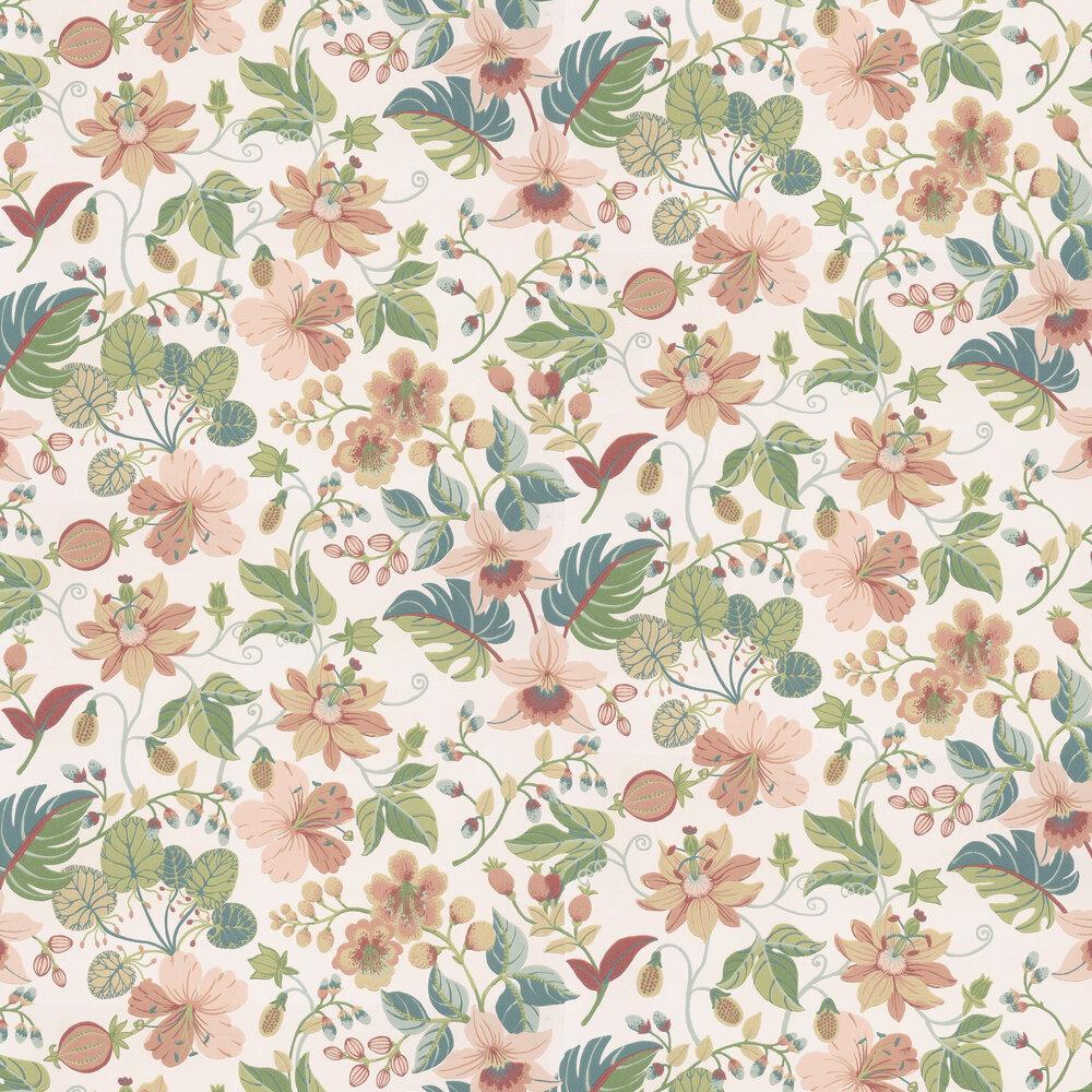 Carmen Trail Wallpaper - Cream - by Eijffinger