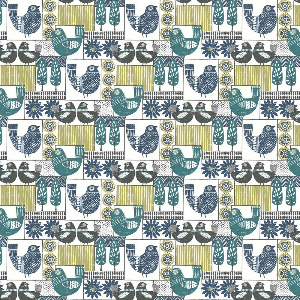 A Street Prints Hennika Blue / Green Wallpaper - Product code: FD25114