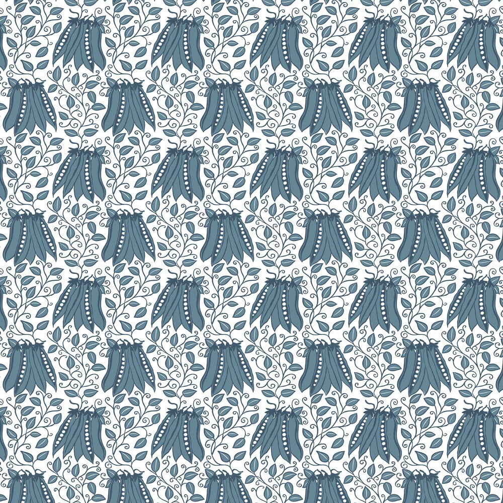 Peas in a pod Wallpaper - Blue - by A Street Prints