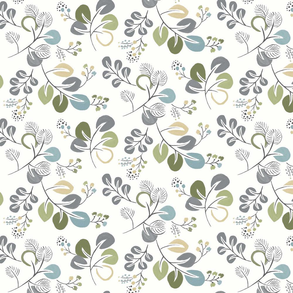 A Street Prints Jona Blue / Green Wallpaper - Product code: FD25123