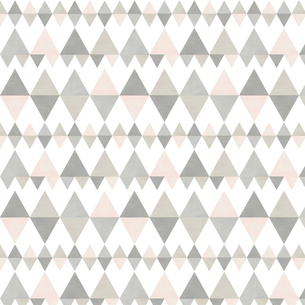 Triology Wallpaper - Grey / Pink - by A Street Prints