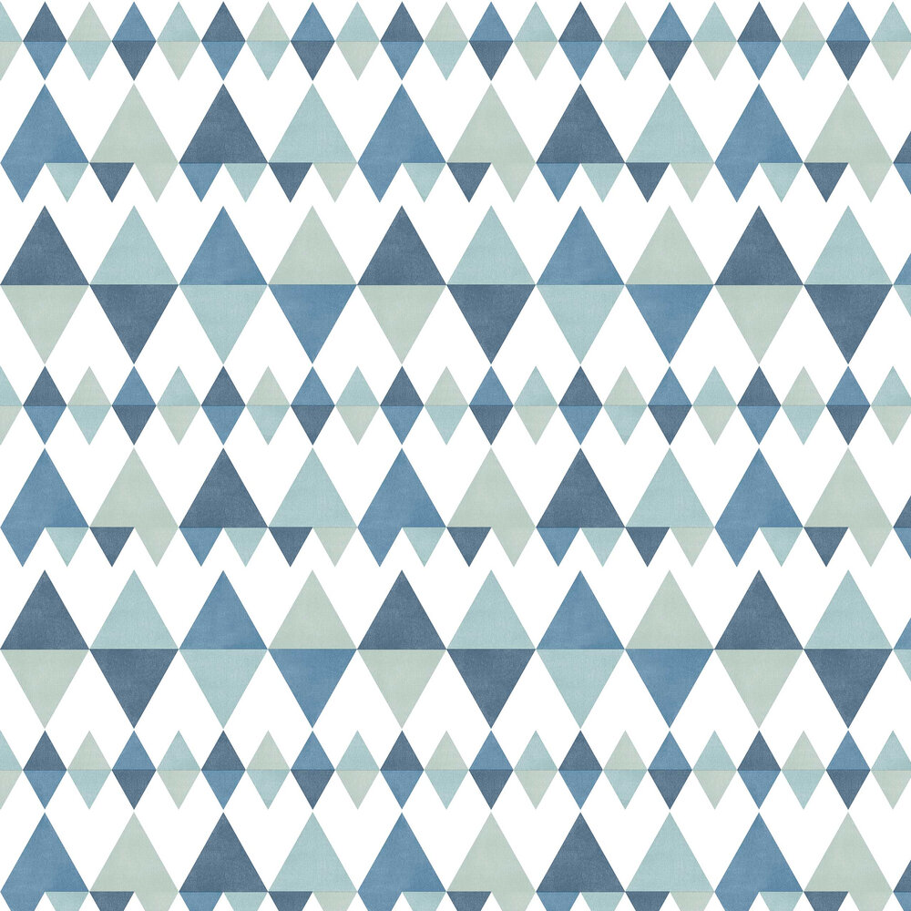 Triology Wallpaper - Blue / Green - by A Street Prints