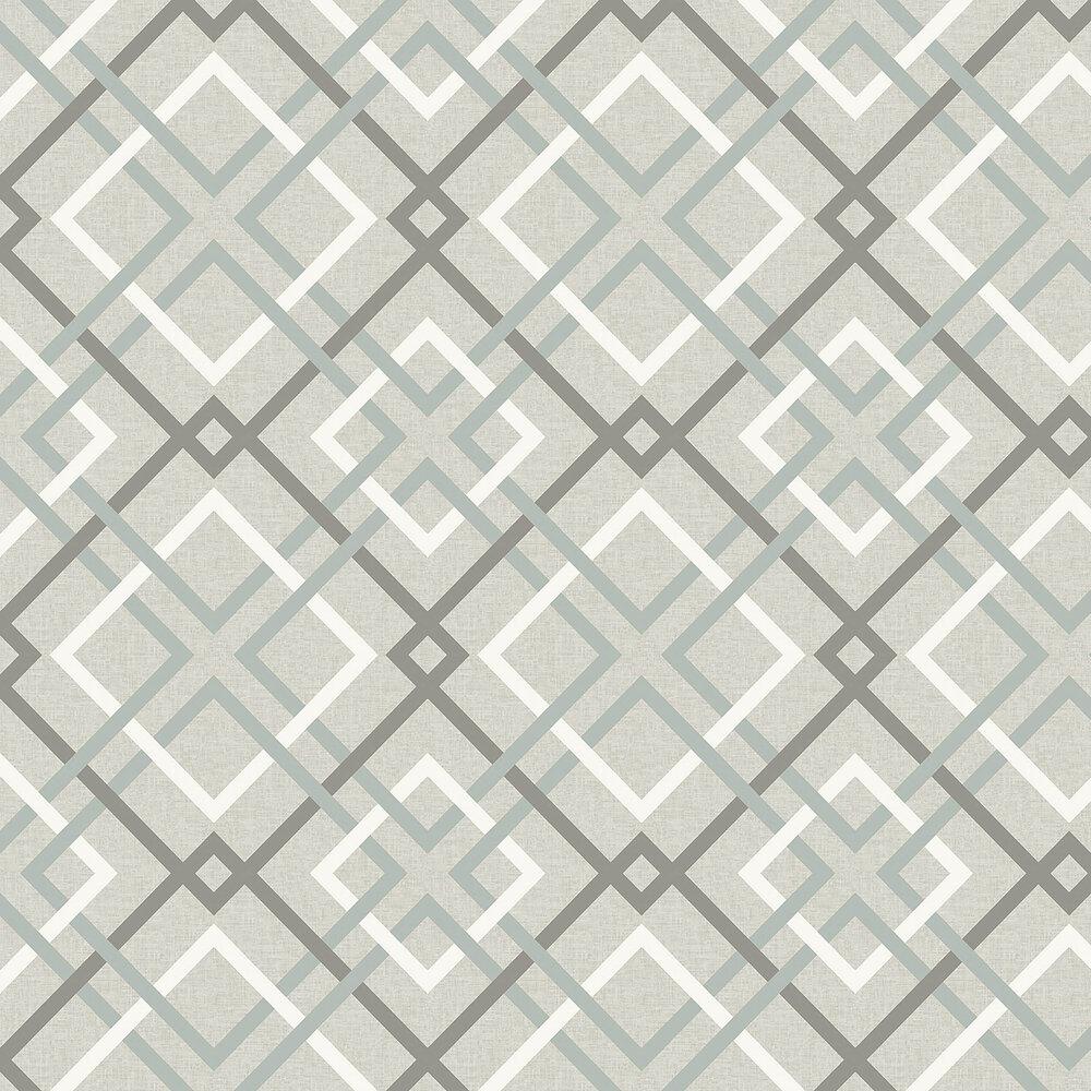 Saltire Wallpaper - Grey - by A Street Prints